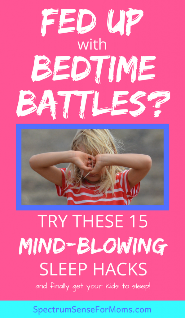 #7 and #9 did it for us! These sleep tips actually work, and I can finally get a good night's sleep, since my little ones are sleeping better! Autism causes some major sleep issues, but these hacks definitely work.