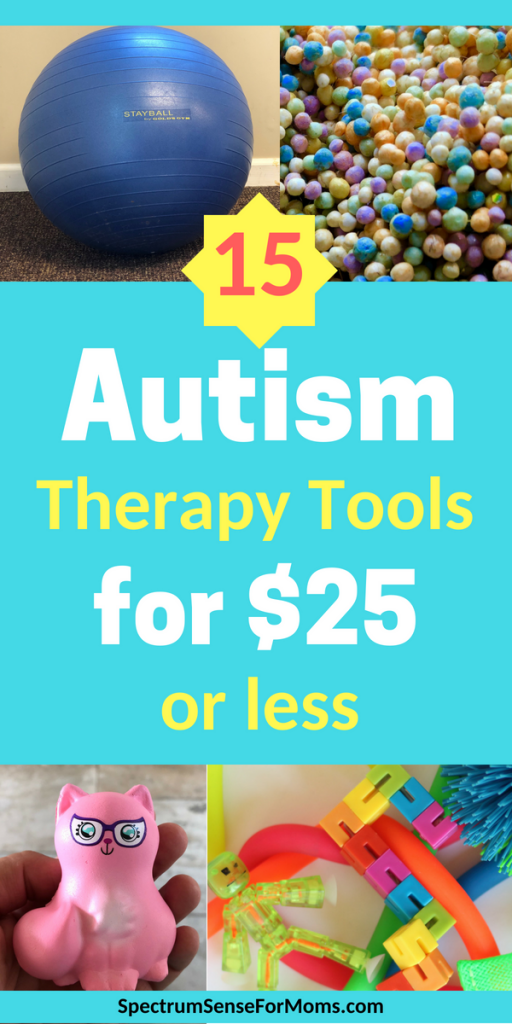 These are super autism therapy tools! I never thought of using some of these household items and fun toys for autism and sensory issues. Affordable occupational therapy tools are a real thing!