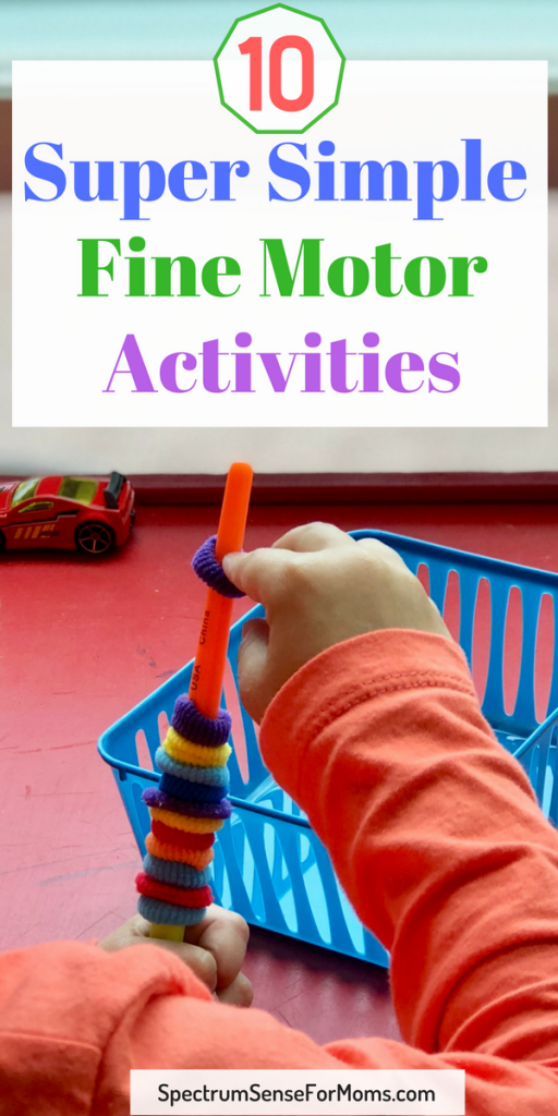 These are awesome fine motor activities that truly require no preparation! So easy to set up for your child, and great ways to help them improve fine motor skills! #finemotorskills #preschoolactivities #summerfun #finemotor