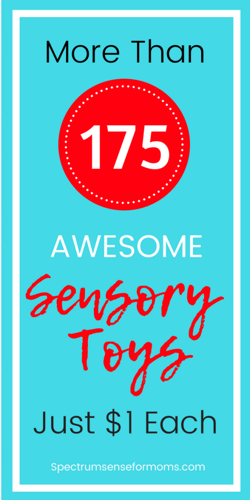 Oh wow! The I had no idea there were this many sensory toys at the Dollar Tree! Items are perfect for calm down bins, fidgeting, and meeting different sensory needs for my kids with autism. I found sensory toys for visual seekers, tactile seekers, and even some deep pressure therapy tools! #sensorytoys #autism #dollartree #autismtherapy #sensorypressessingdisorder